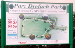 Park Interpretative Board, Drefach