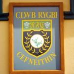 Cefneithin Rugby Club Sign